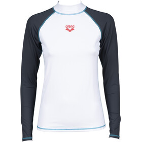 arena Rash LS UV Vest Women white/ash grey